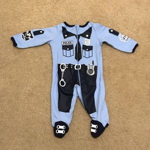 Infant Police Zip Front Footed Onesie